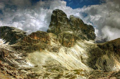 croda dei toni  mountains  dolomites