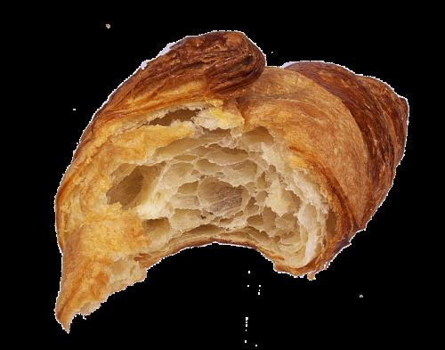 croissant bitten butter croissant