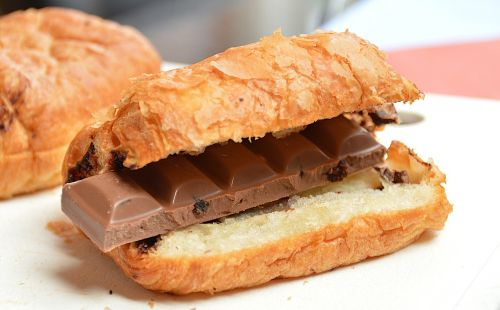 croissant chocolate breakfast