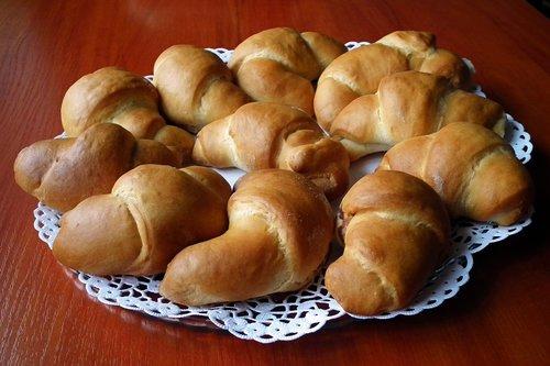 croissants  bread  yeast