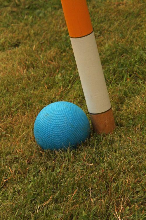 croquet wooden balls hoop