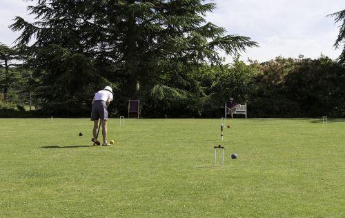 croquet player lawn