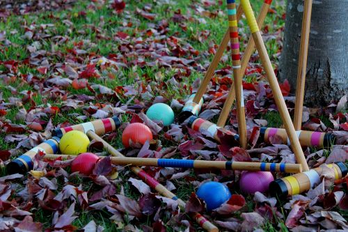 kroketas,žaidimas,lauke,lauke,linksma,žaisti,spalvos,spalvos,spalvos,spalvos,lapai,ruduo