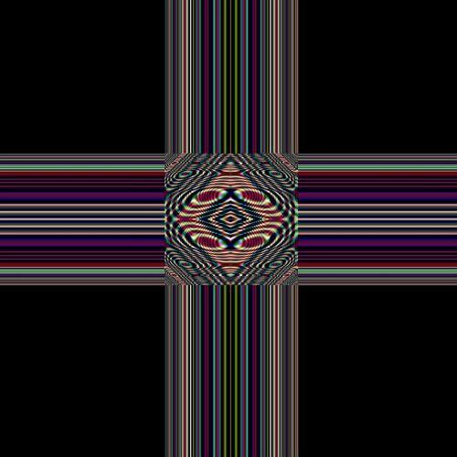 cross art fractal