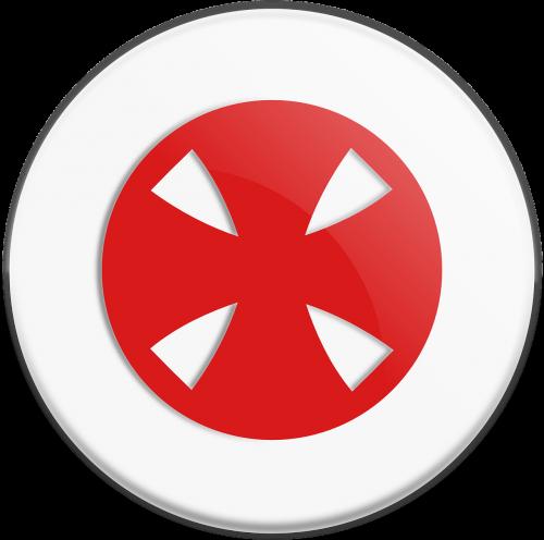 cross templar red
