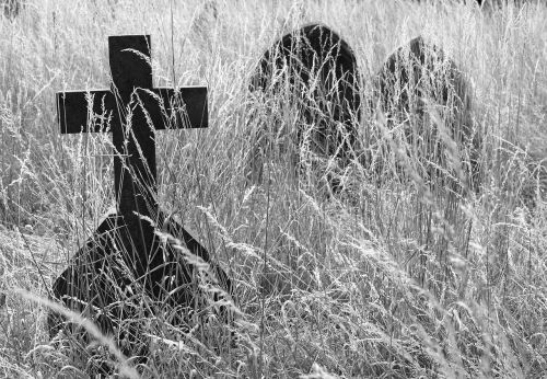 cross cemetary gravestone