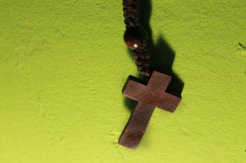 cross wooden cross prayer chain