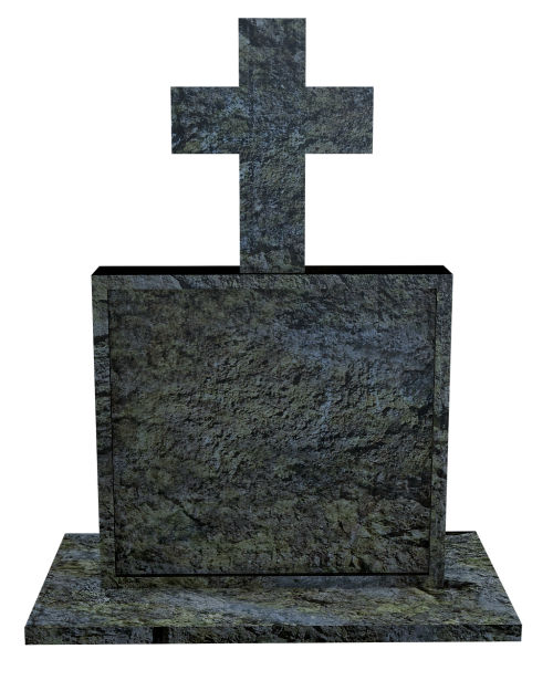 cross tombstone cemetery