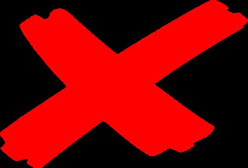 cross delete remove