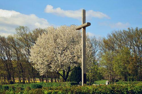 cross cemetery spring