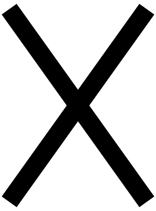 cross black symbol