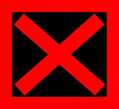 cross x red