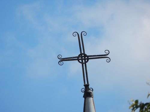 cross wrought iron roofing