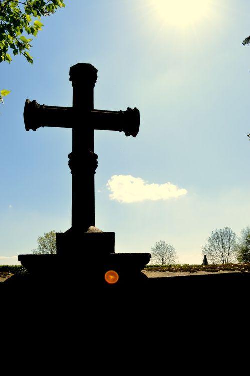 cross christianity cemetery