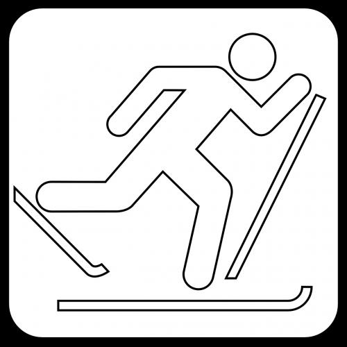 cross country skiing symbol skiing