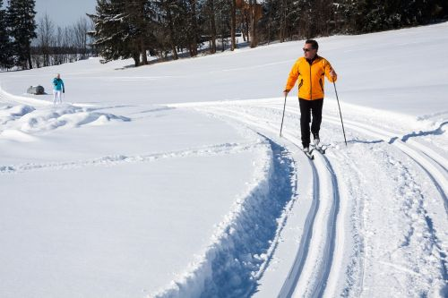 cross-country skiing trail trace