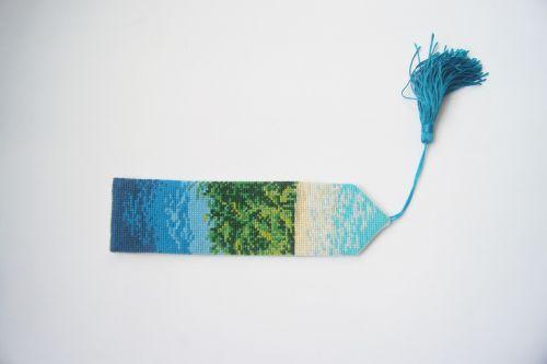 cross stitch bookmark tassel