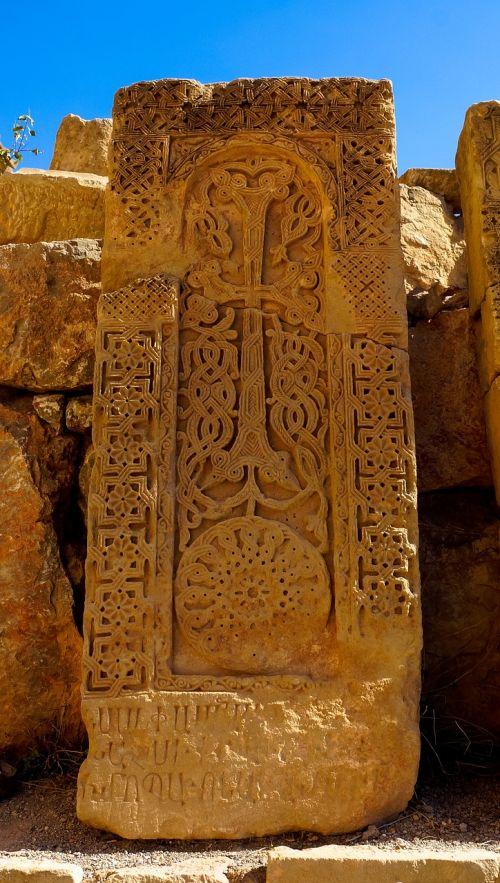 cross-stone carving stone