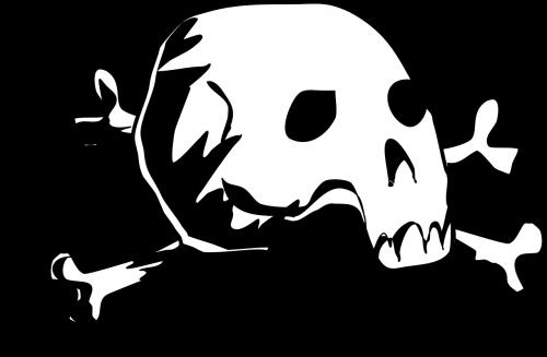 crossbones skull death's skull