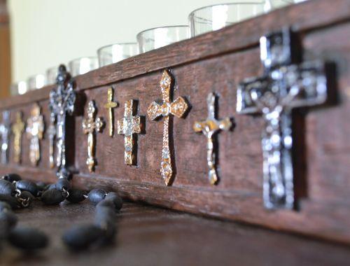 crosses metal cross candles and crosses