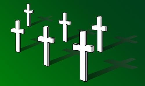 crosses cemetery graveyard