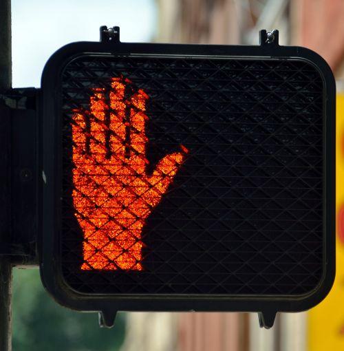 crossing signal light street