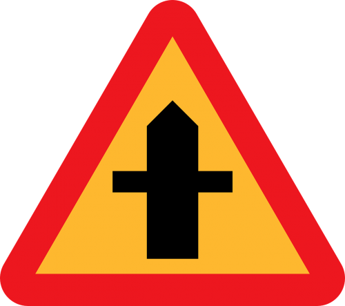 crossroads junction roadsign