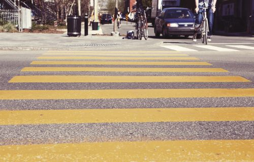 crosswalk pedestrian crossing stripes