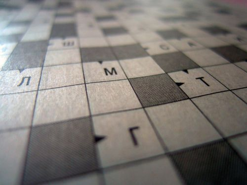 crossword puzzle background think