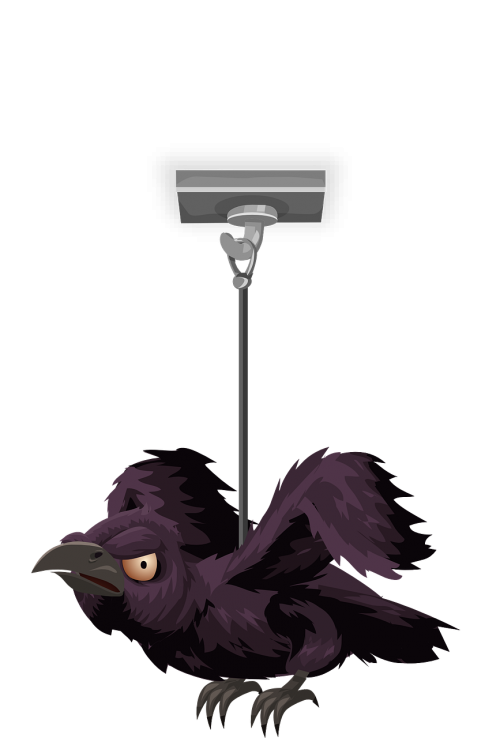 crow hanging pendant