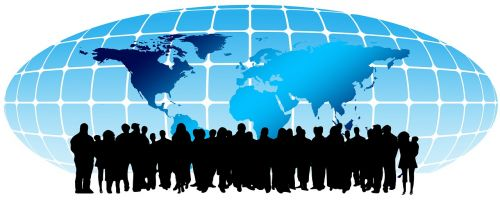 crowd human continents