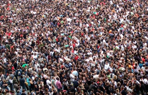 crowds people agglomeration