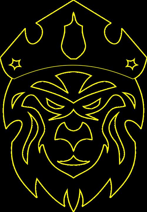 crown heraldry lion head