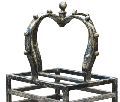 crown wrought iron forged