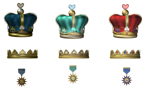 crowns medals queen