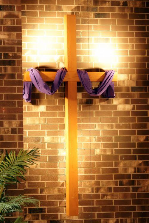 Crucifixion Cross In Church