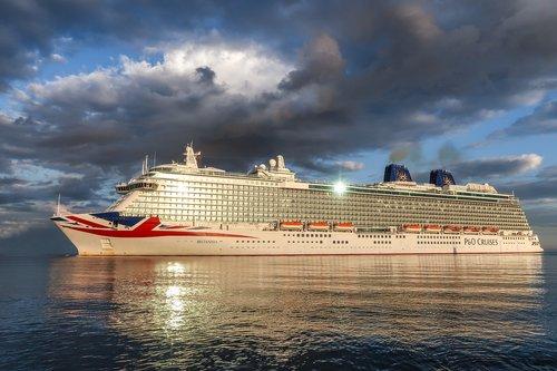 cruise ship  britannia  baltic sea