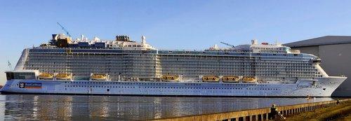 cruise ship  meyer werft  papenburg germany