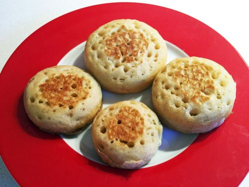 crumpets food baking