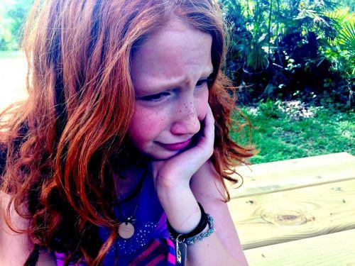 crying sad child