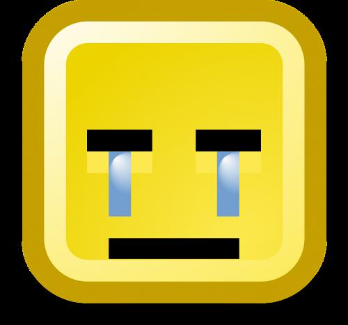 crying sad unhappy smiley