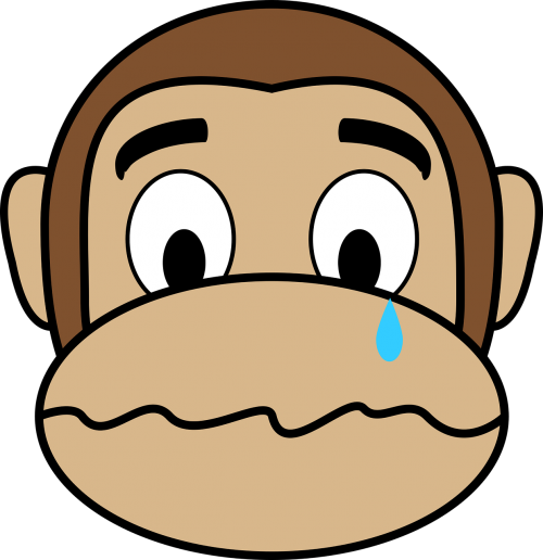 crying face monkey