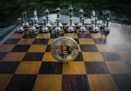 cryptocurrency  concept  chess