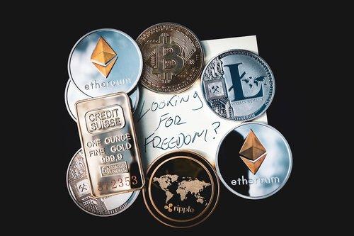 cryptocurrency  concept  blockchain