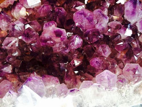 crystal amethyst purple