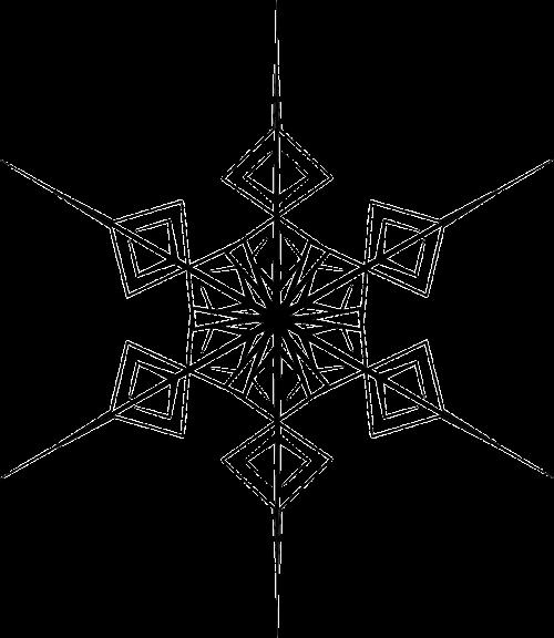 crystal hexagonal snowflake