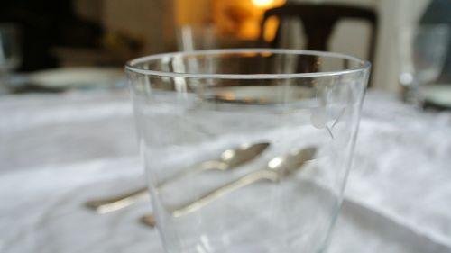 crystal silverware dining