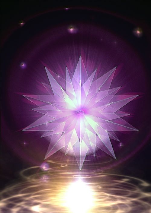 crystal mirroring reflection