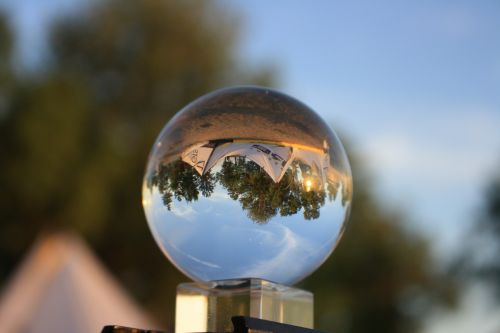 crystal ball reflection crystal