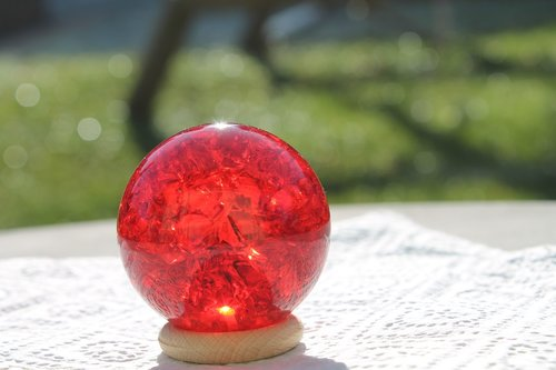 crystal ball red  energy  place of power